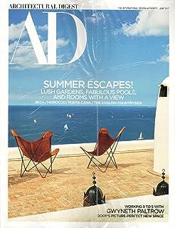 Architectural Digest Magazine June 2017