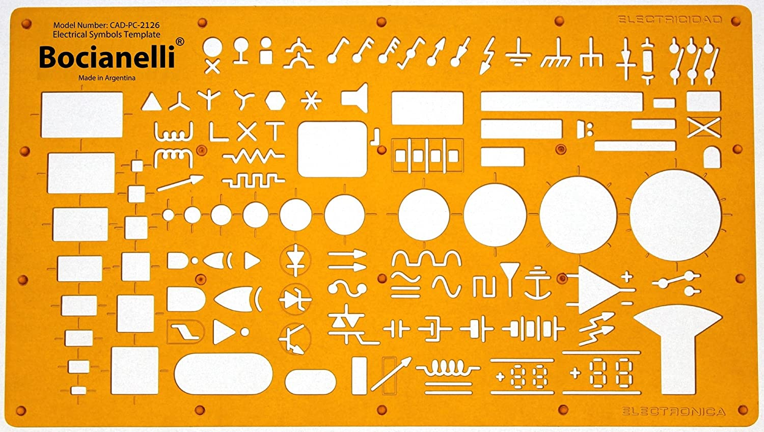 Electrical And Electronic Installation Symbols Drawing Standard Wiring Diagram Template Stencil Engineering Drafting Supplies Layout Plan Schematic
