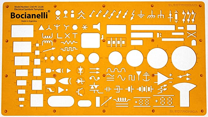 Electrical And Electronic Installation Symbols Drawing Template