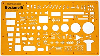 Electrical and Electronic Installation Symbols Drawing Template Stencil – Engineering Drafting Supplies – Layout Plan Schematic Wiring