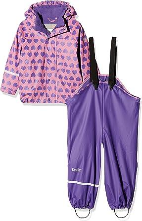 CareTec Kids Rain Pants Dungarees Purple 74