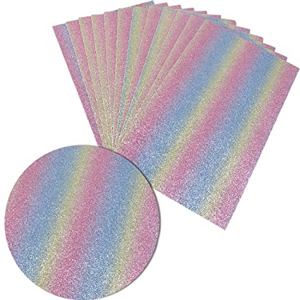 Amazon Com Superfine Glitter Fabric Thick Canvas Back Craft Diy