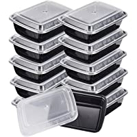 10-Pack KICHEIF Meal Prep 28oz 1 Compartment Food Prep Containers