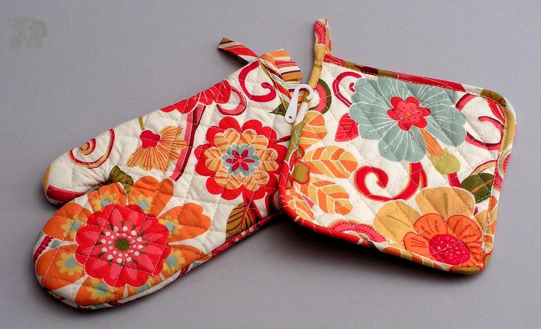Modelo Vintage Floral Manoplas de Horno Smartbox Cooksmart Juego de 2