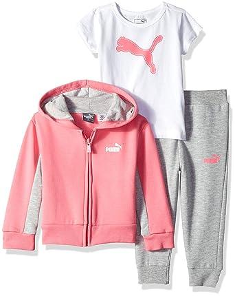 53ad86a431033 Amazon.com: PUMA Baby Girls' 3 Piece Fleece Set: Clothing