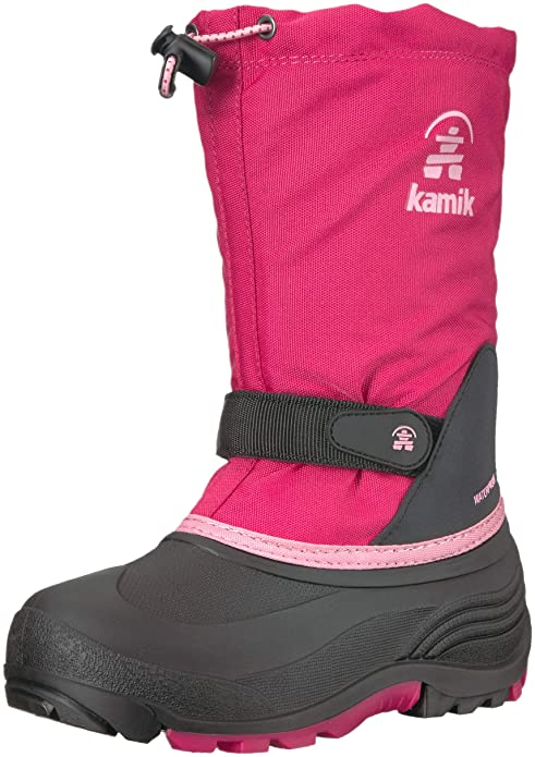 Kamik Girls' WATERBUG5 Snow Boot, Bright Rose, 4 Medium US Big Kid best kids' snowboots