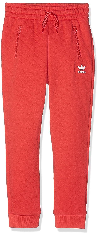adidas Pantalón niña, niña, Enhanced, Tomato-St/White, 128: Amazon ...