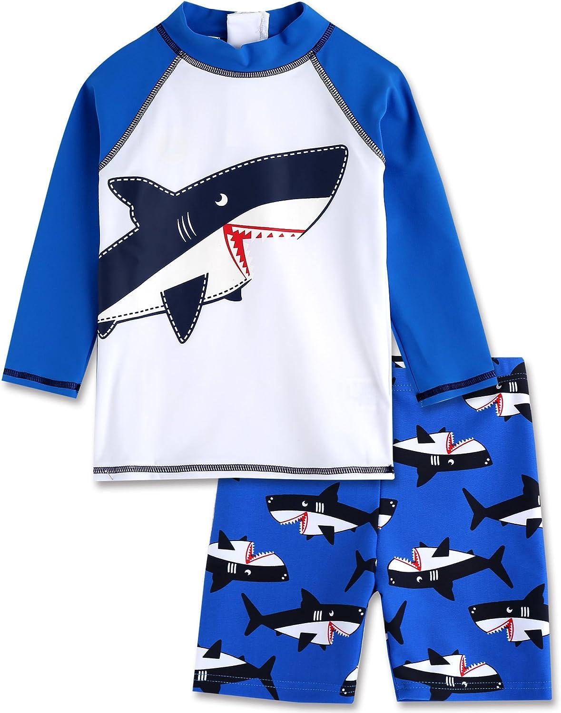 Rashguard Swimsuit Set with Star L VAENAIT BABY 2T-7T Kids Boys UPF 50