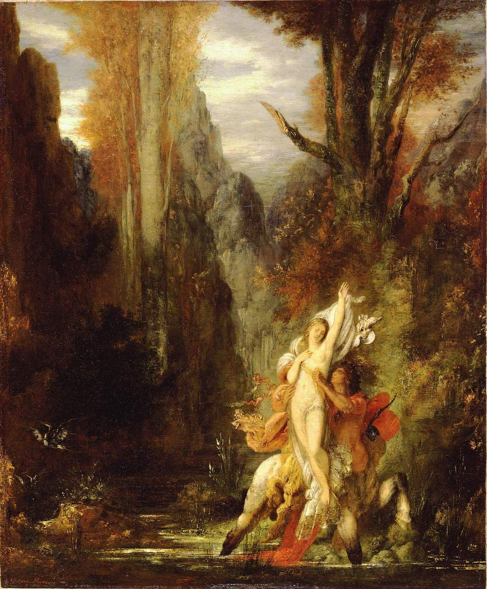 Gustave Moreau Oedipus and the Sphinx Giclee Canvas Print Paintings Poster