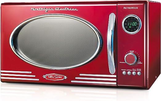 Amazon.com: Nostalgia RMO4AQ Retro - Horno de microondas de ...