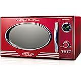 Nostalgia RMO4RR Retro Large 0.9 cu ft, 800-Watt Countertop Microwave Oven, 12 Pre-Programmed Cooking Settings, Digital…