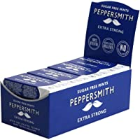 Peppersmith 100% Xylitol Extra Strong Mints,15 g (Box of 12, Total 300 Mints)