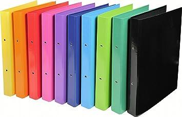 Exacompta 54929E - Archivador de 2 anillas (de cartón cubierto en PVC, A4, espesor 30 mm), varios colores: Amazon.es: Oficina y papelería