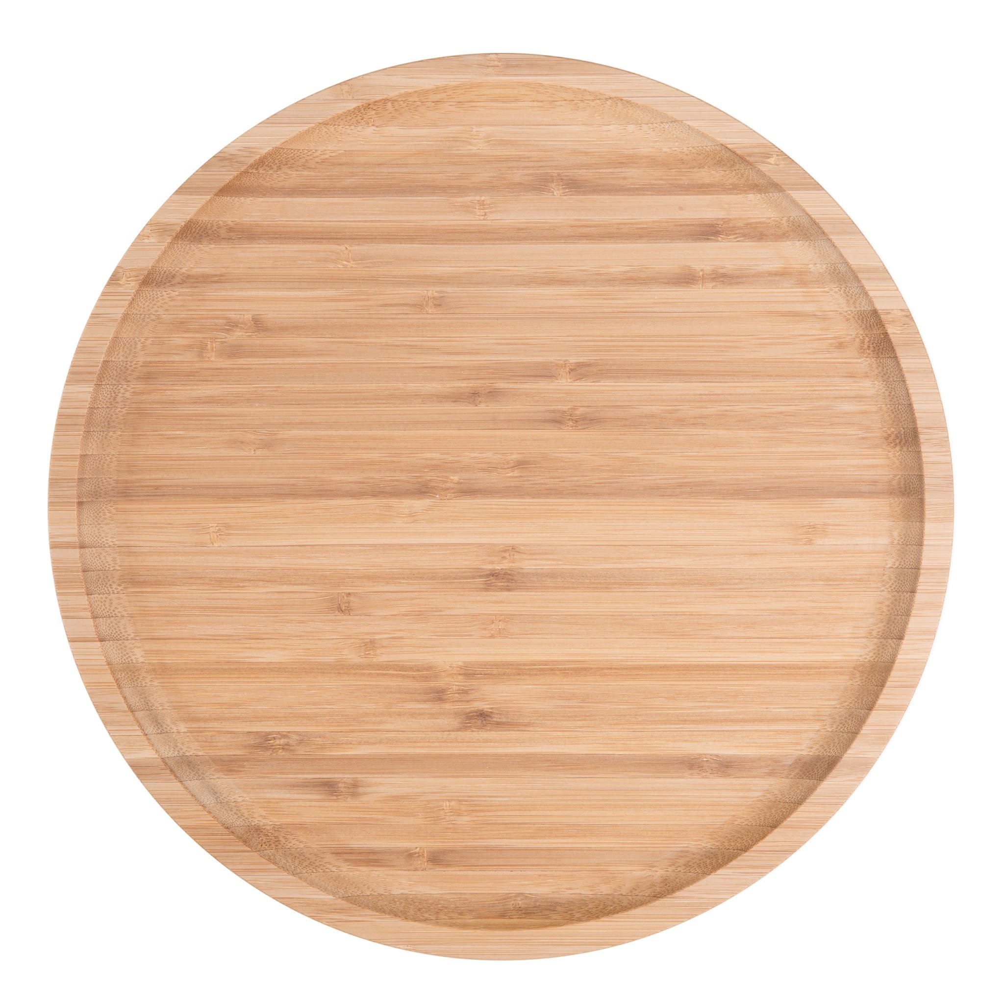 Bamboo Round Plates,12 Inches Cheese Plates Coffee Tea Serving Tray Fruit platters Party Dinner Plates Sour Candy Tray