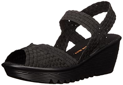 bernie mev. Women's Fame Black Sandal 36 (US Women's ...