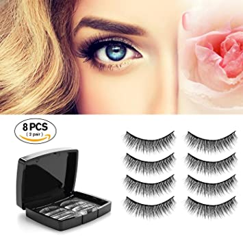 b0a99cf04f7 Image Unavailable. Image not available for. Color: Verfanny Magnetic  Eyelashes - No Glue - 3D Reusable False Eyelashes Set for Natural Look -