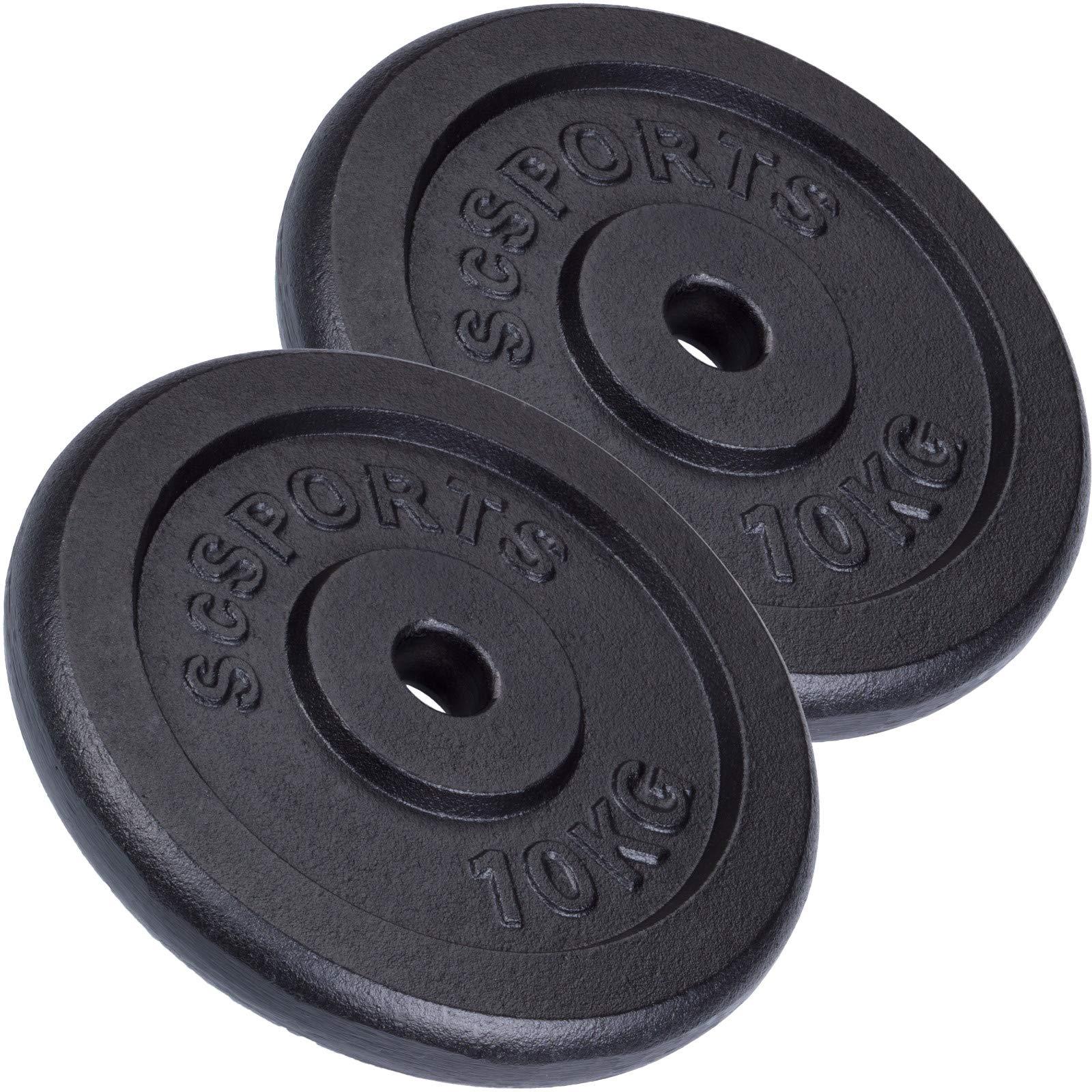 ScSPORTS - Pesas en forma de disco con orificio de 30 mm para halteras (2