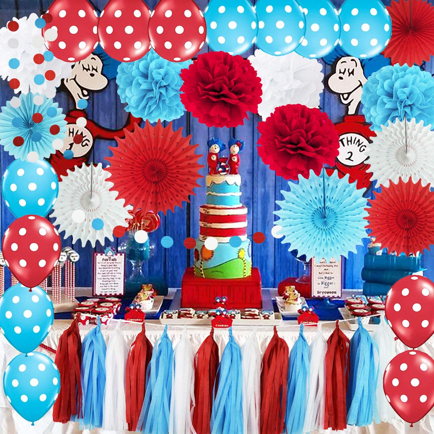 Dr Seuss Birthday Party Decorations from images-na.ssl-images-amazon.com