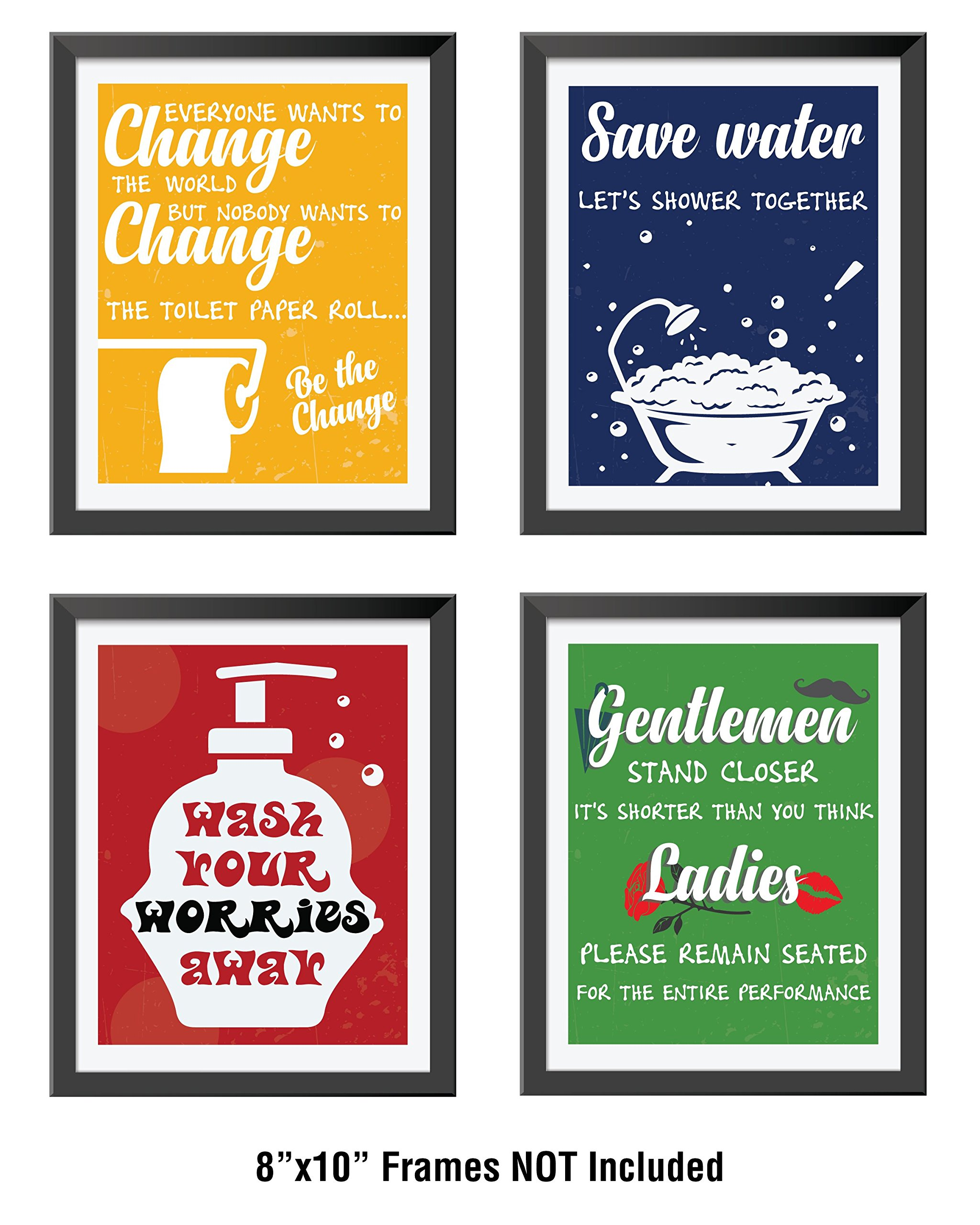 Bathroom Decor Amp Funny Quotes Set Of Four Durable High