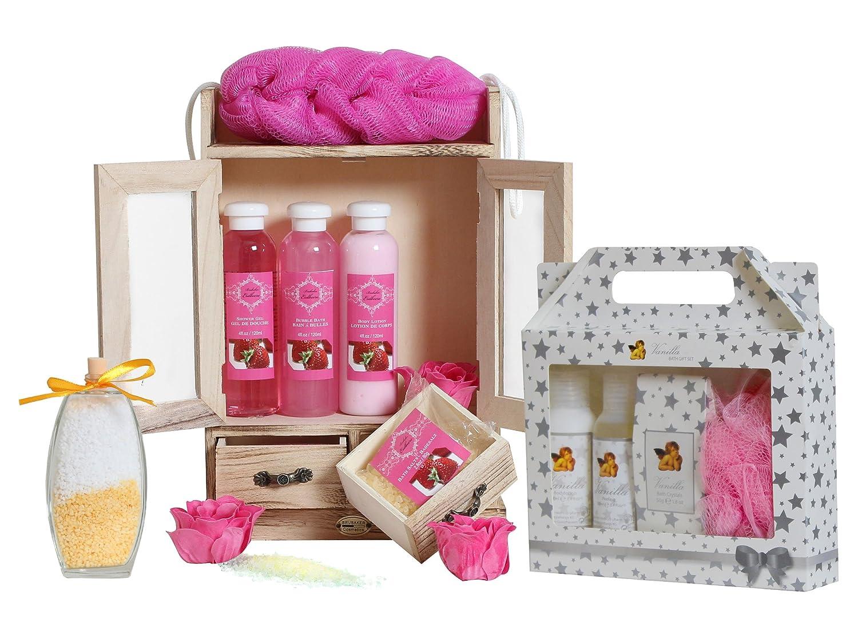 BRUBAKER Cosmetics 15 Pcs Beauty Gift Set Strawberry Vanilla