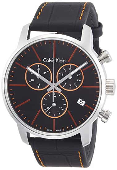 Amazon.com: Calvin Klein K2G271C1 Mens City Black Chronograph Watch: Watches