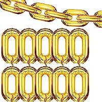 24 Pieces 16 inch Foil Chain Balloons Jumbo Chain Balloons for 80s 90s Hip Hop Retro Theme Birthdays Weddings…
