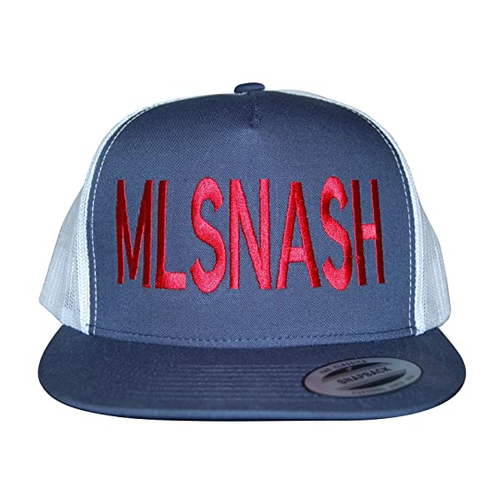 d19adf9c9b717 Bandwagon Nash MLSNASH Flat Bill Trucker Hat- For Nashville Soccer Club   Amazon.in  Clothing   Accessories