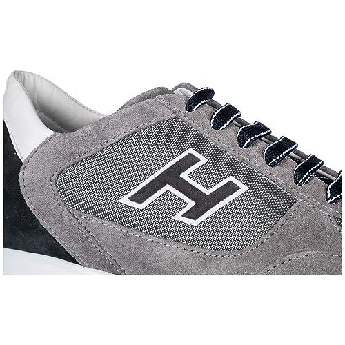 Hogan Scarpe Sneakers Uomo camoscio Nuove Interactive H Flock Grigio EU  44.5 HXM00N0Q102I9L413K 518468e1ce0