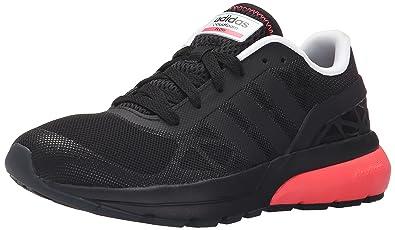 92426f4476e6 adidas NEO Women s Cloudfoam Flow W Casual Sneaker,Black Black Flared,5.5
