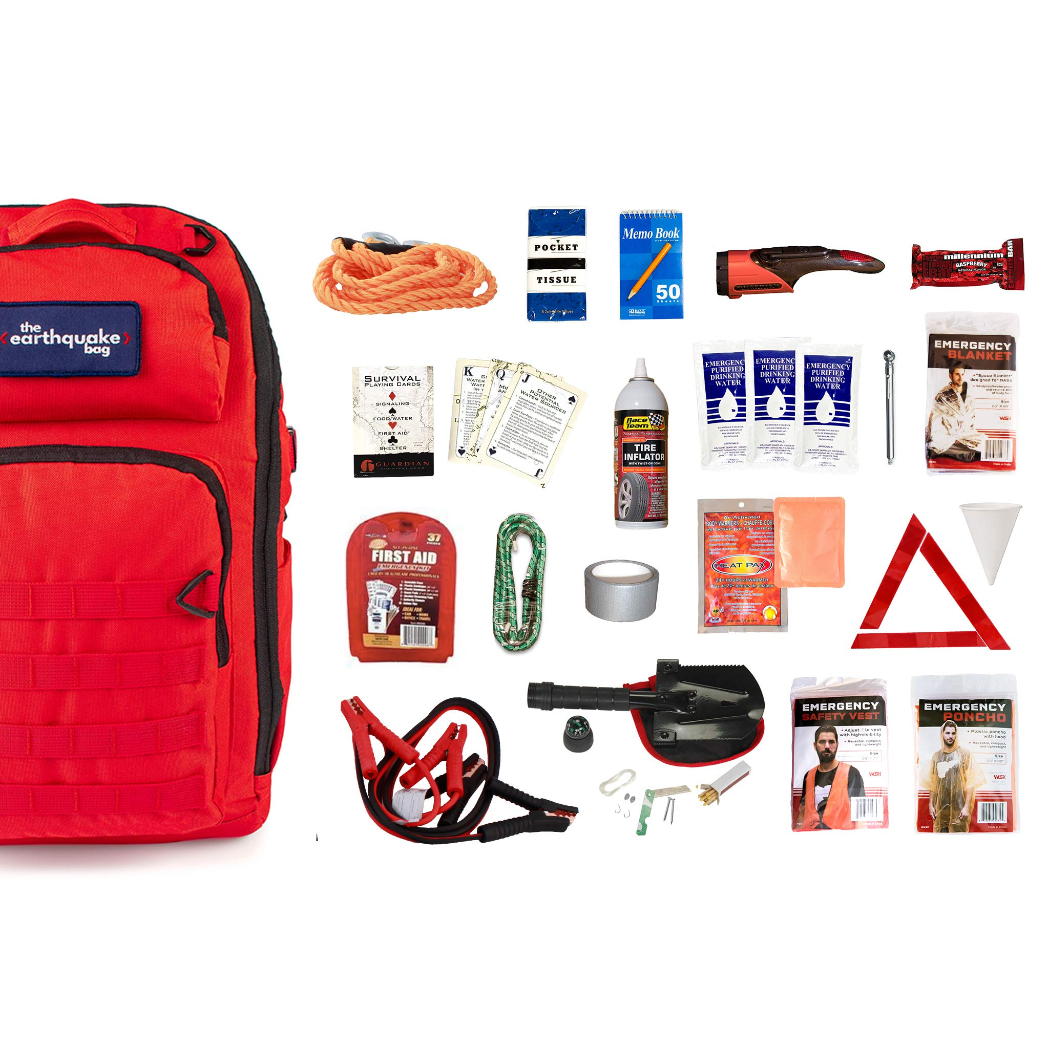 Complete Car Emergency Kit (1 Person) - Stay Safe on The Road, no Matter What Comes up