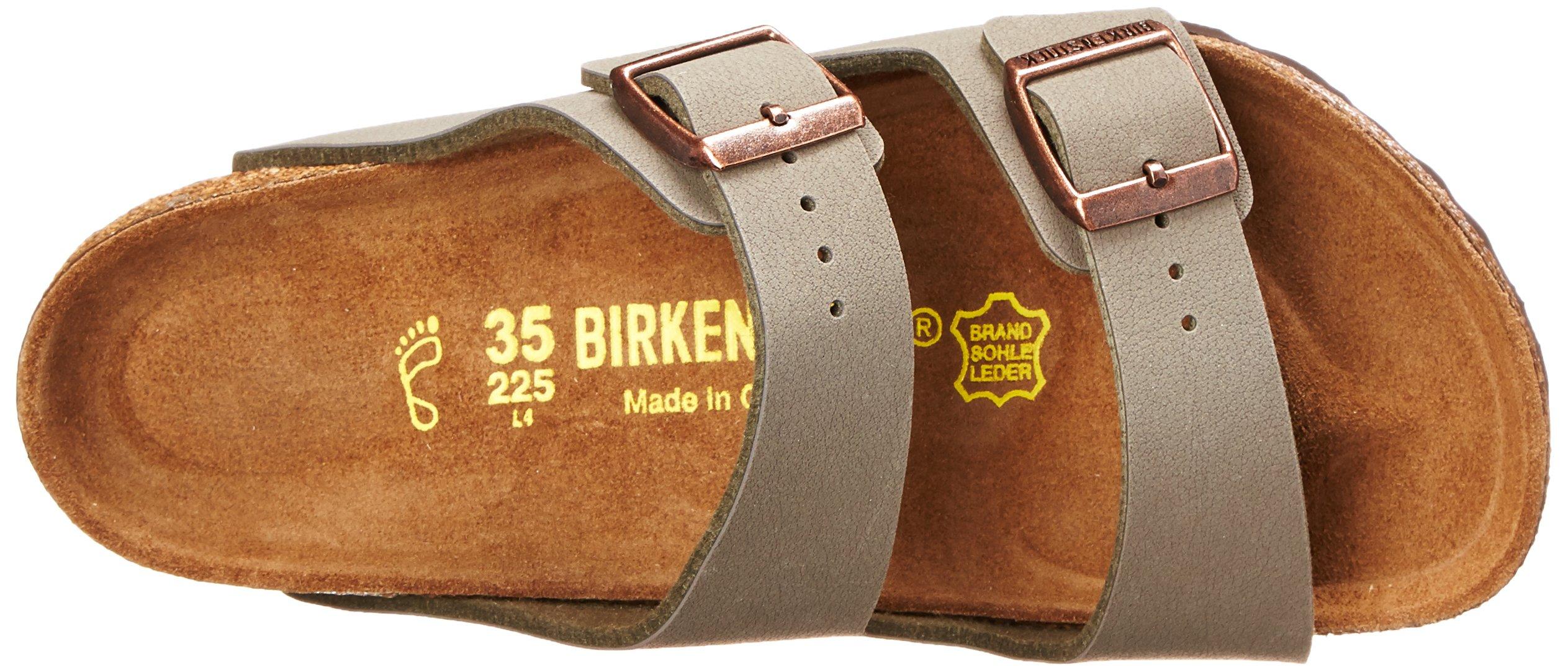 Birkenstock Arizona-Birkibuc(tm) (Unisex), Stone Birkibuc&Trade, 35 (US Women's 4-4.5) Regular by Birkenstock (Image #8)