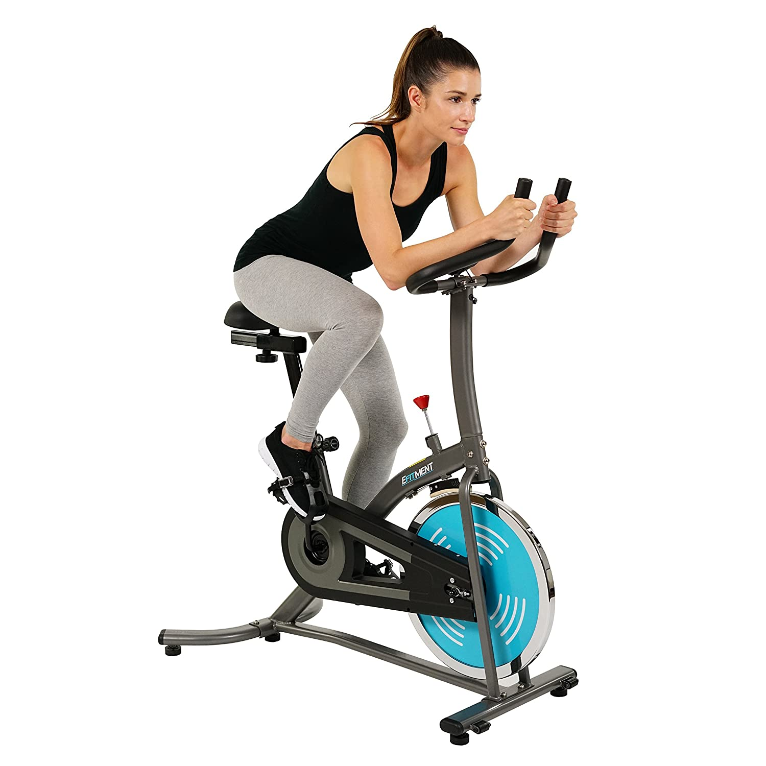 EFITMENT Indoor Cycle Bike, Quiet Belt Drive Cycling Trainer Exercise Bike Low Maintanance – IC007