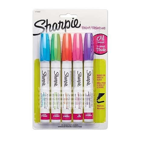 Sharpie 1770459 Bleu, Vert, Rose, Violet 5pièce(s) marqueur à ...