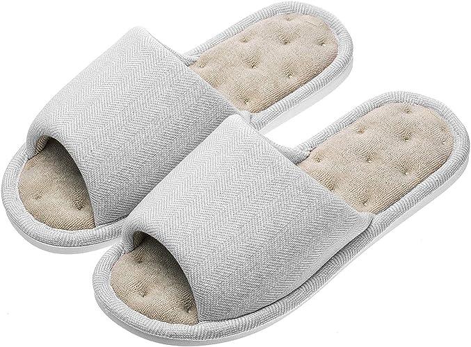 Echoapple - Zapatillas de interior para mujer y hombre, unisex, de algodón, lavable, con forro de terciopelo, para interior: Amazon.es: Zapatos y complementos