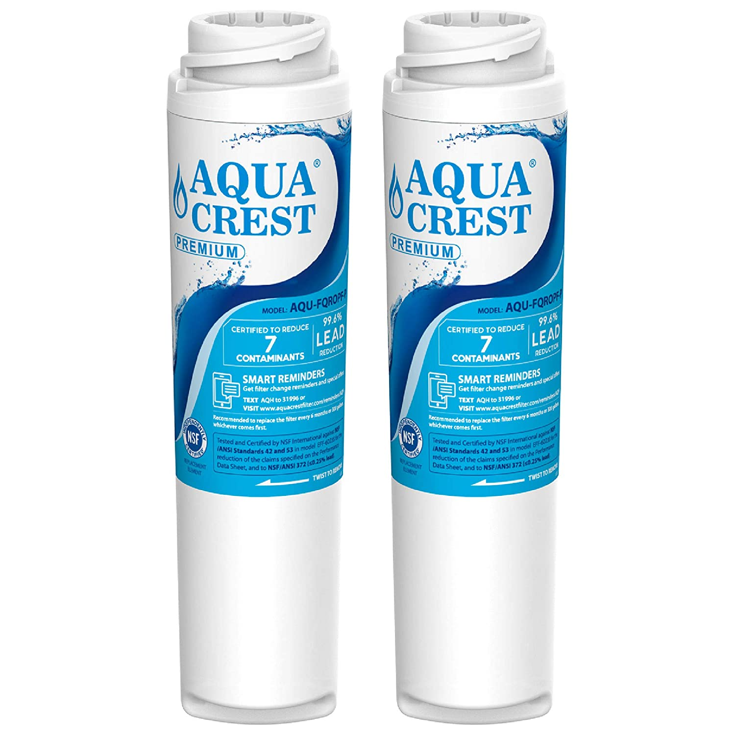 AQUACREST NSF 53 &42 Certified FQROPF Under Sink Water Filter, Replacement for GE FQROPF Reverse Osmosis Water Filter (1 Set)
