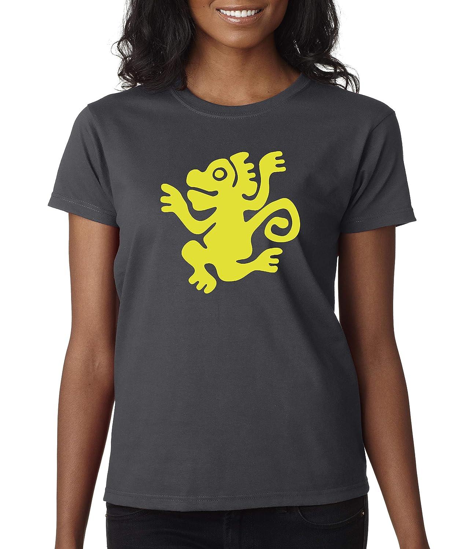 Charcoal Trendy USA 814  Women's TShirt Legends Hidden Temple LOTHT [Green Monkeys]