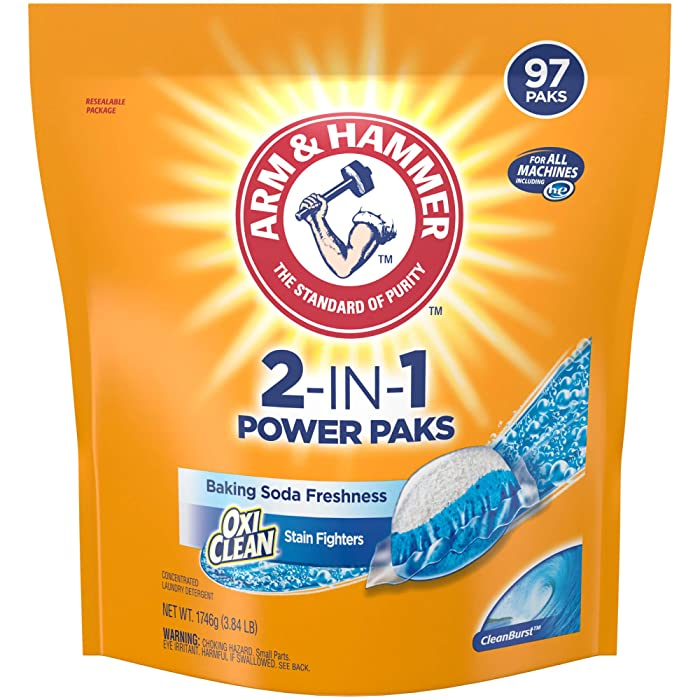 Arm & Hammer 2-in-1 Laundry Detergent Power Paks, (Packaging May Vary)