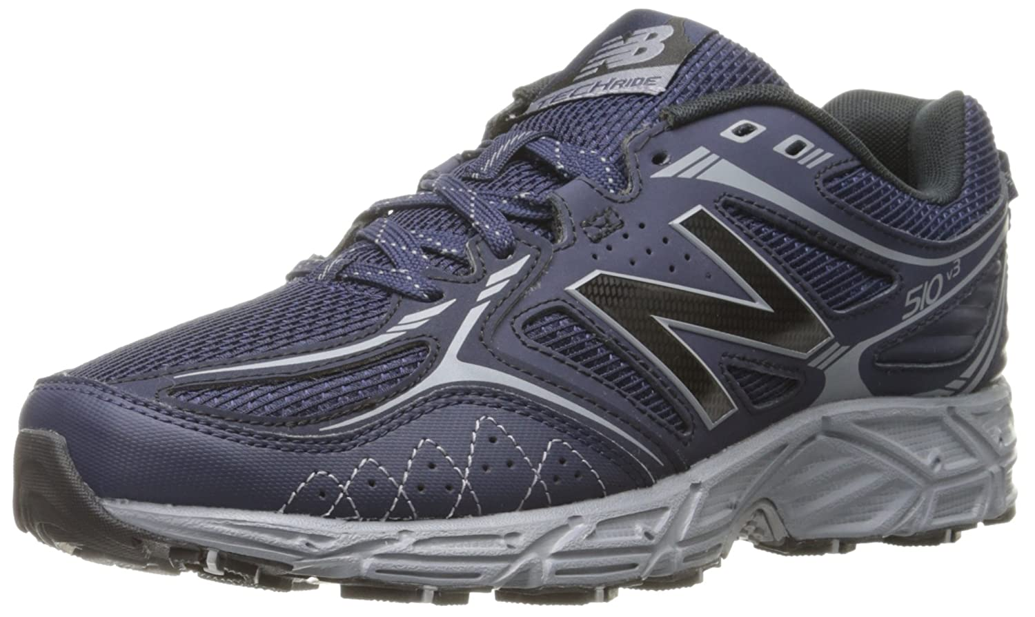 New Balance Men's 510v3 Trail Running Shoe B0164A2DCM 8.5 D(M) US|Navy/Silver