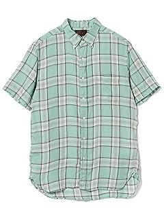 Short Sleeve Twill Plaid Buttondown Shirt 11-01-0874-139: Mint Green