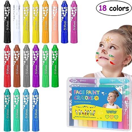 TOYMYTOY Giotto pastelli colorati 18 Colori set di colori pastello per  bambini fb10af28e88