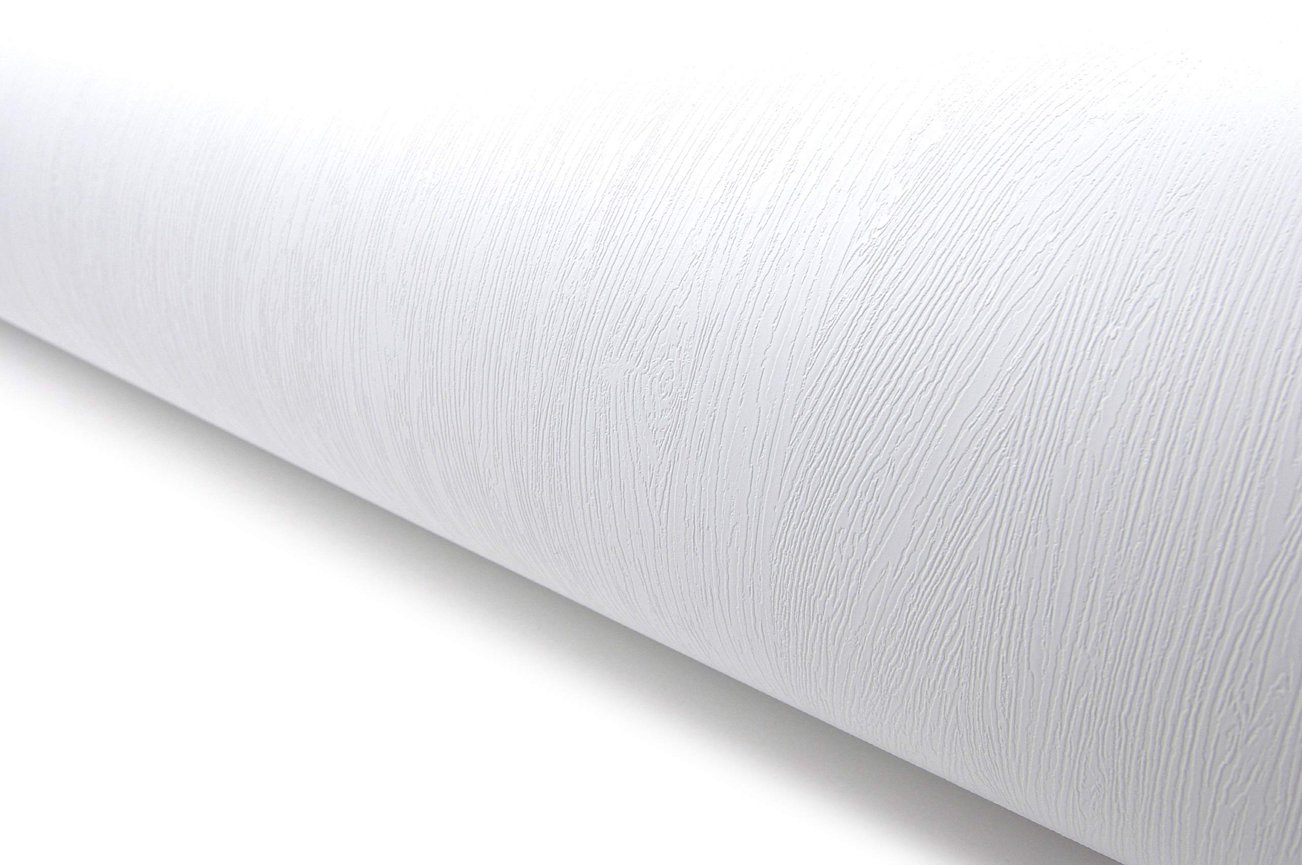 Wood Pattern Texture Contact Paper Film Vinyl Self Adhesive Peel-Stick Removable (VBS841-2(White 9.84ft))