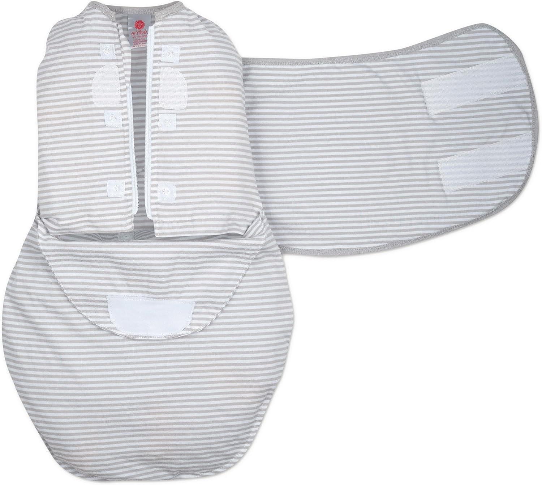 embe Changement de couche et de botte enveloppante dans les 2 sens sans g/âchis conception de jambe /à lint/érieur et /à lext/érieur chauffage ou refroidissement 0-3 mois 5-14 lbs Bande grise