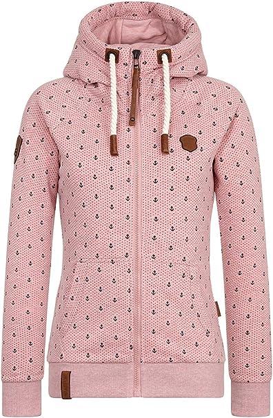 naketano jacke damen rosa anker