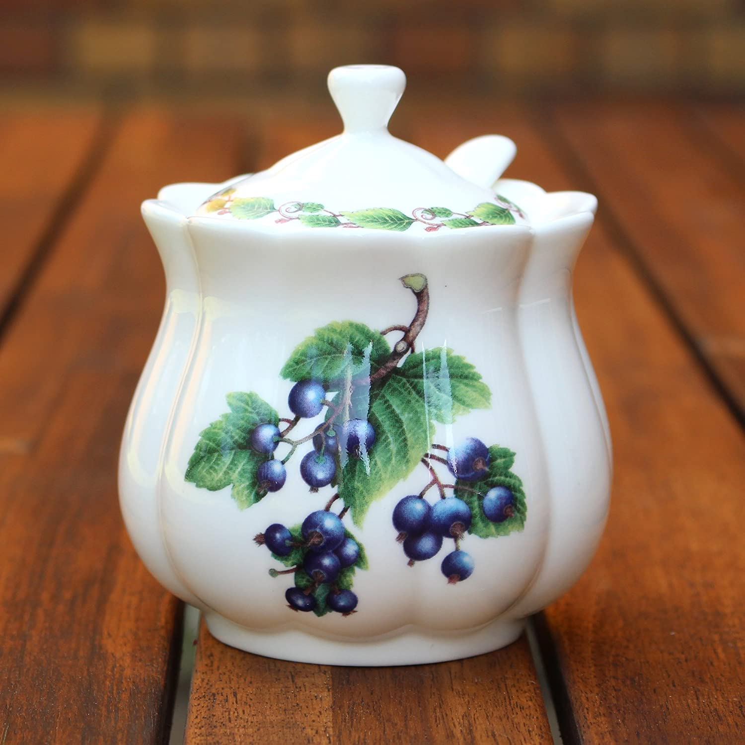 Classic Jam Pot and Spoon - Blackcurrent The Redwood Collection RW8520