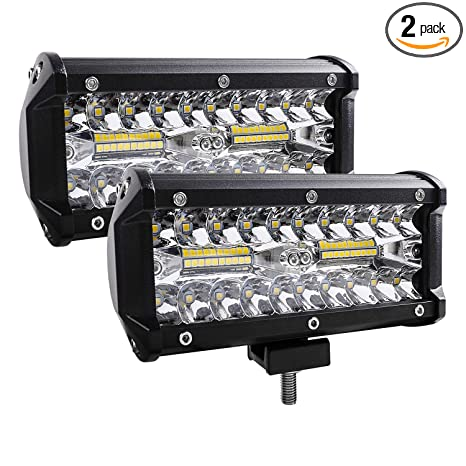 Amazon.com: Barra de luz LED, 2 unidades, 240 W, 24000 lm ...