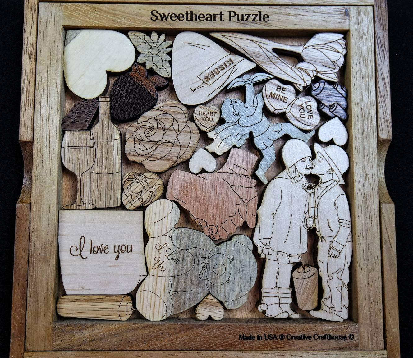 The Sweetheart Puzzle Can be personalized to add your custom text something unique for someone special