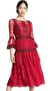 5c4c90a8 Marchesa Notte Women's Bishop Sleeve Cocktail Dress at Amazon ...
