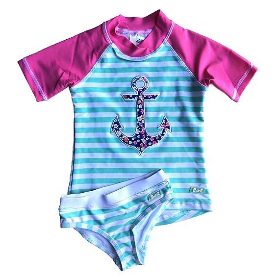 f1579df0890a Banz Baby Maillot de Bain Anti-UV 2 pièces t-Shirt   Culotte Fille Enfant   Amazon.fr  Vêtements et accessoires