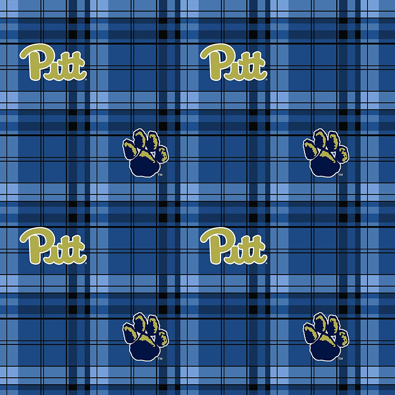 Amazon Com University Of Pittsburgh Fleece Blanket Fabric Fabric Pittsburgh Panthers Plaid Fleece Fabric Sold By The Yard