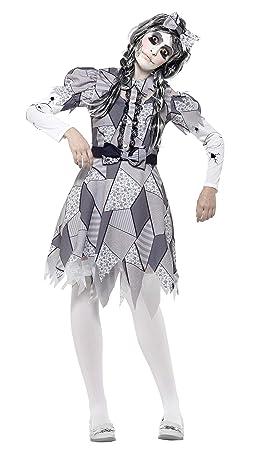 Smiffy s – Disfraz de la mujer Halloween Dañado Muñeca Disfraz ...